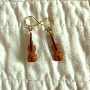 Jewelry - Violin Earrings